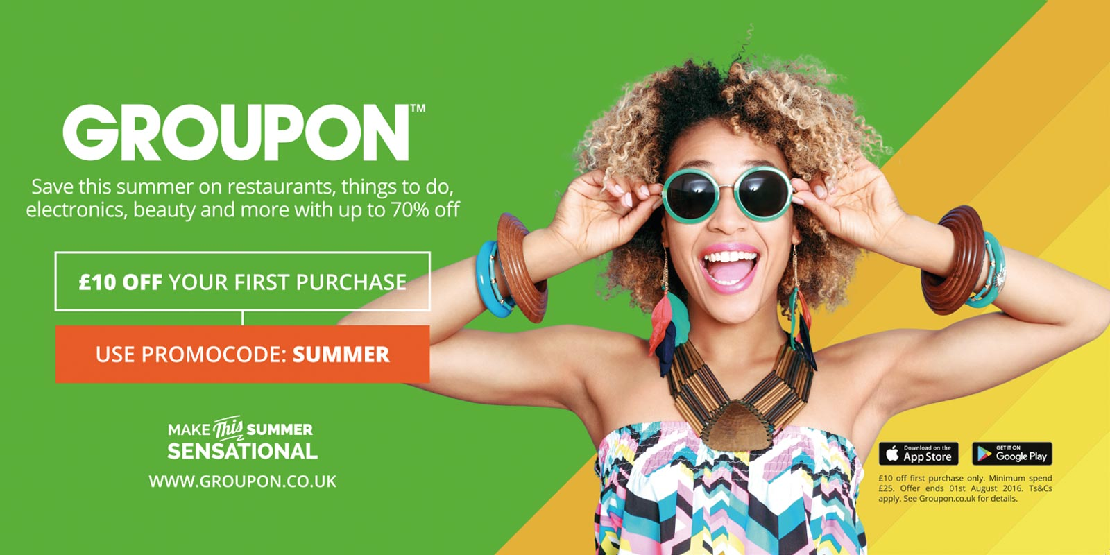Groupon Sensational Summer OOH Advertising