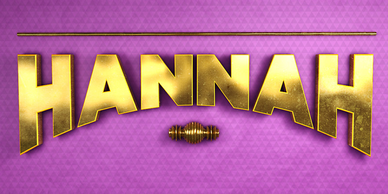 Hannah Cinema 4D Typography